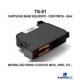 Cartucho Base solvente -Cor Preta TS-01
